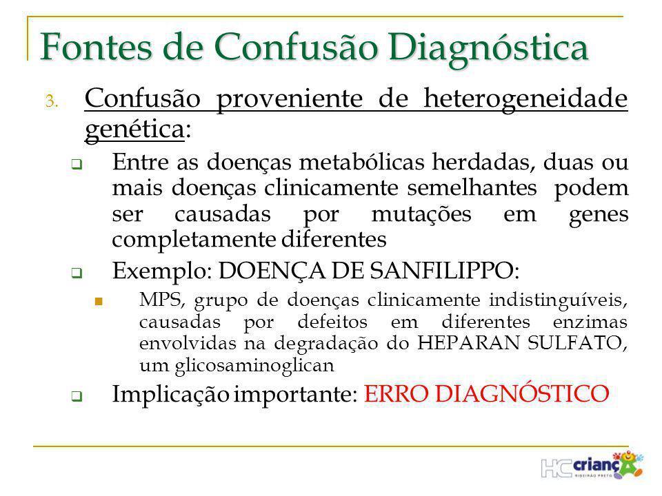 Fontes de Confusão Diagnóstica