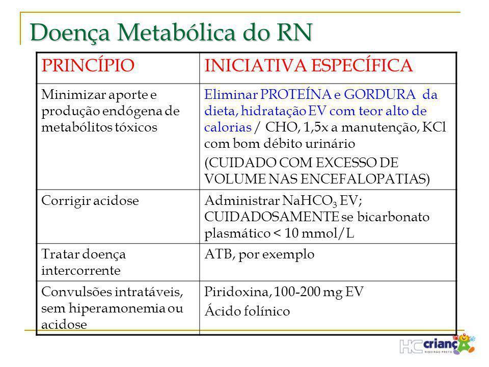 Doença Metabólica do RN