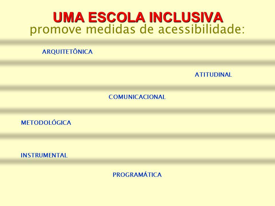 promove medidas de acessibilidade: