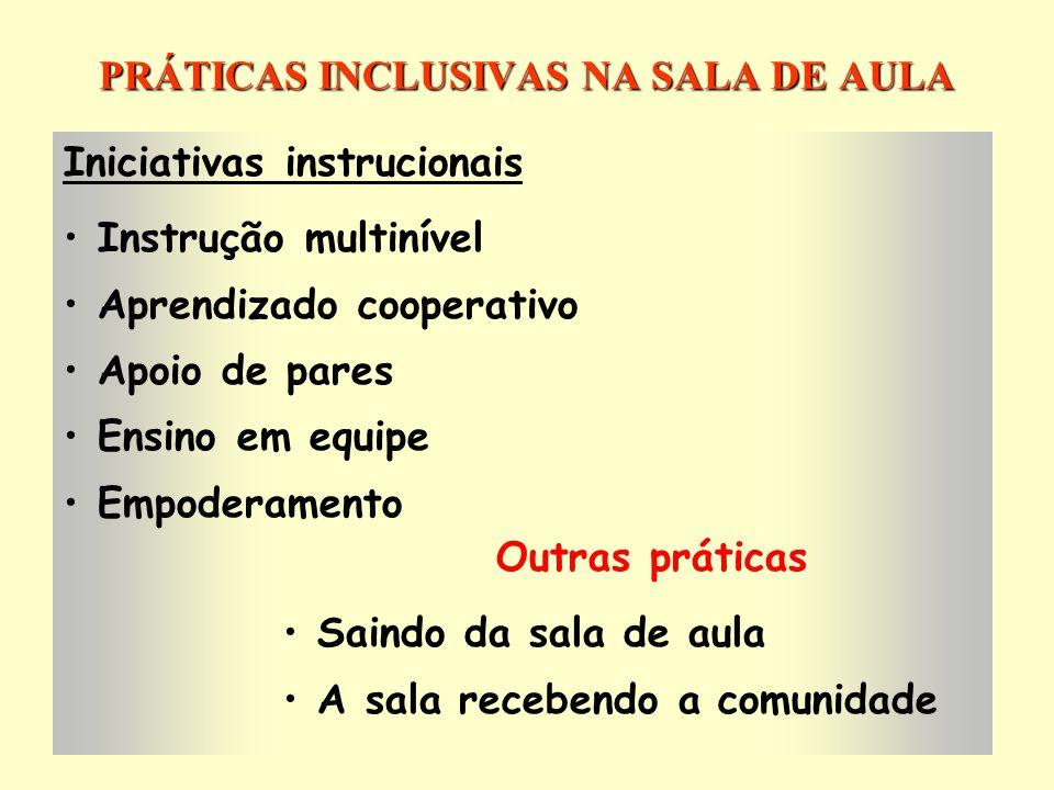PRÁTICAS INCLUSIVAS NA SALA DE AULA