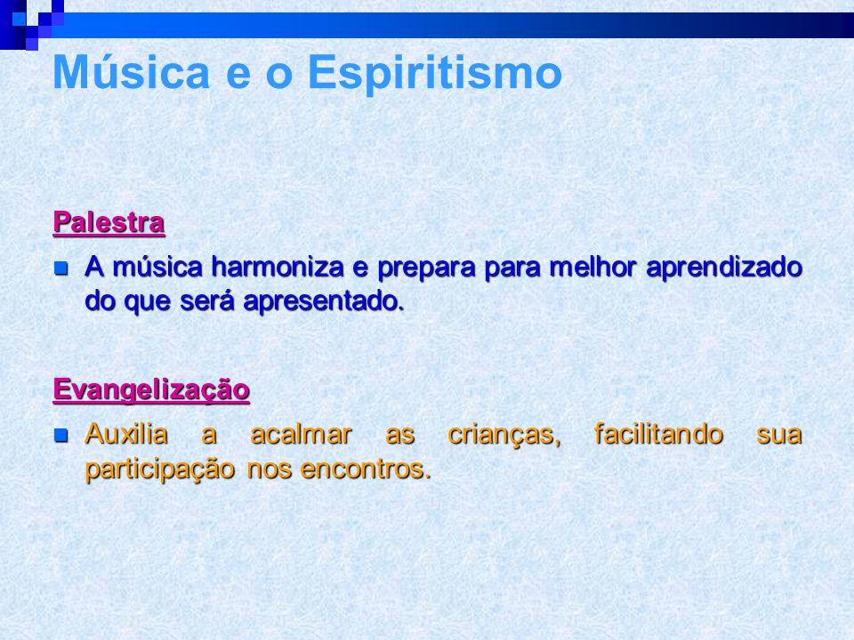 Música e o Espiritismo Palestra
