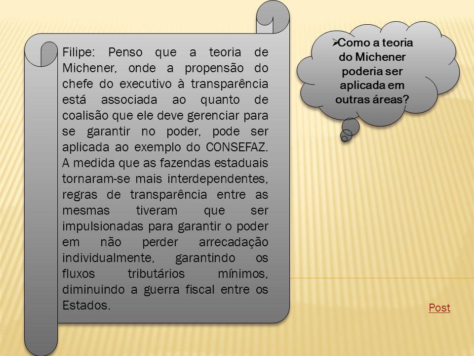 Como a teoria do Michener poderia ser aplicada em outras áreas