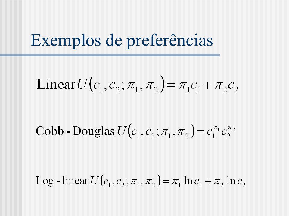 Exemplos de preferências