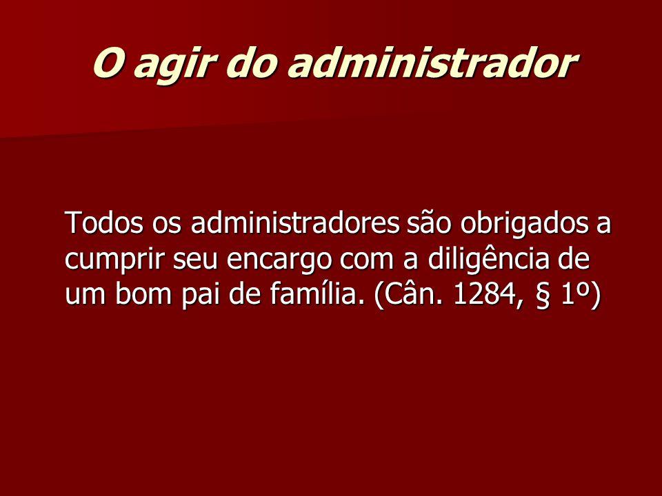 O agir do administrador