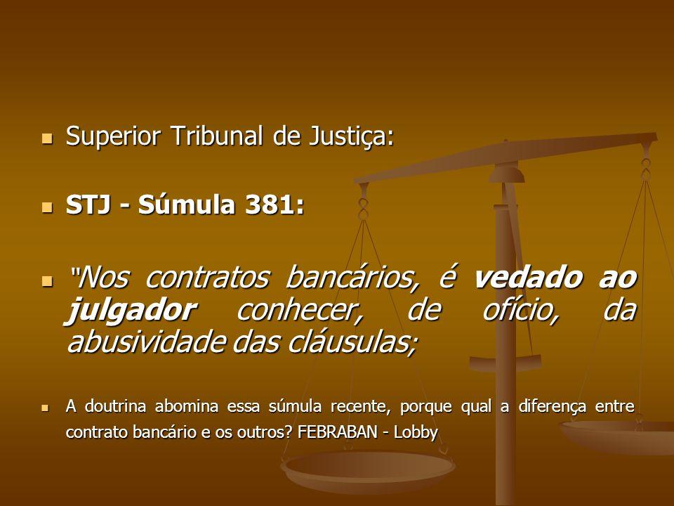Superior Tribunal de Justiça: STJ - Súmula 381: