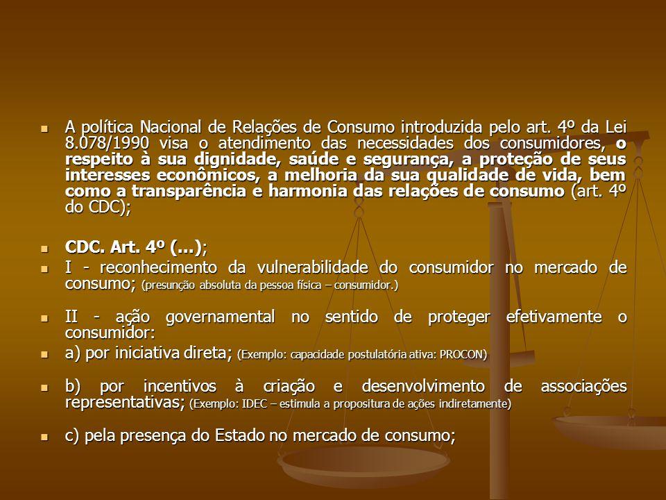 A política Nacional de Relações de Consumo introduzida pelo art