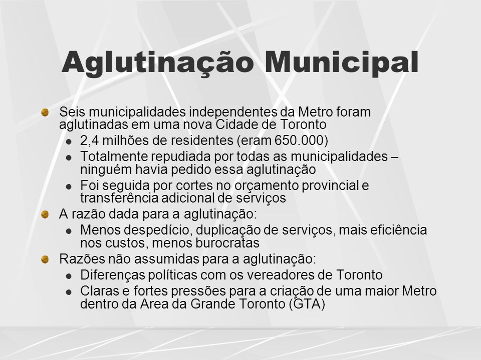 Aglutinação Municipal
