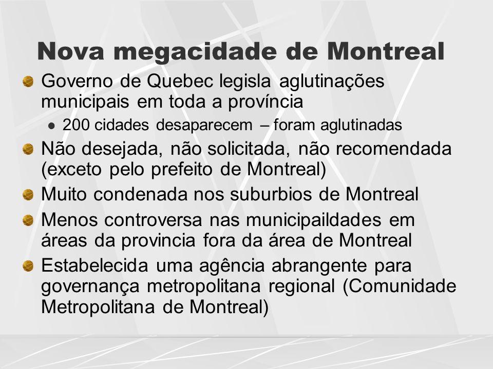 Nova megacidade de Montreal