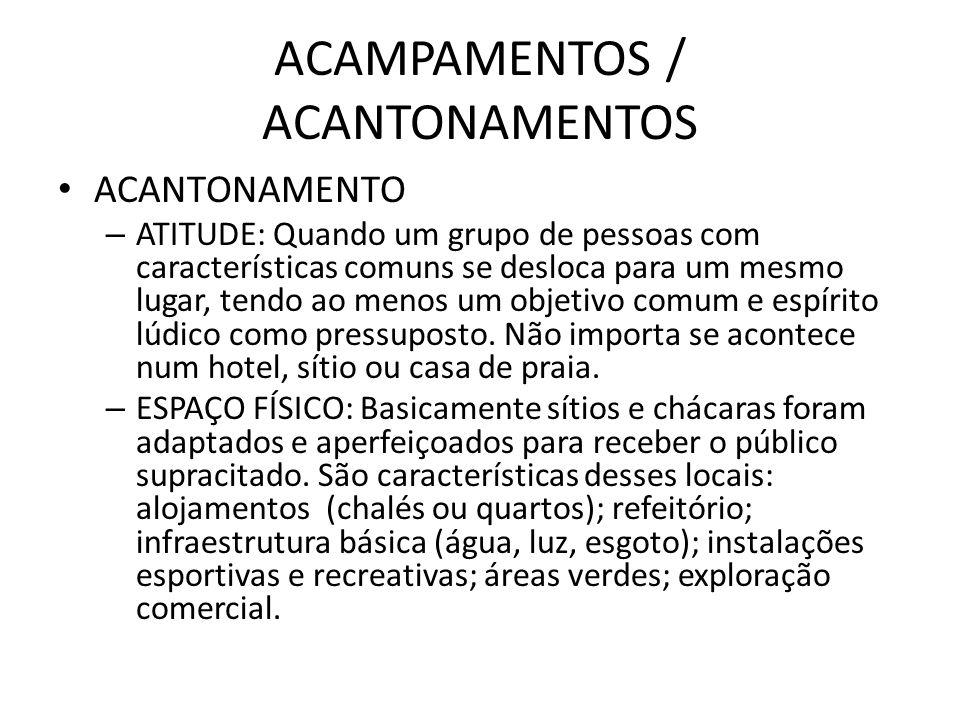 ACAMPAMENTOS / ACANTONAMENTOS
