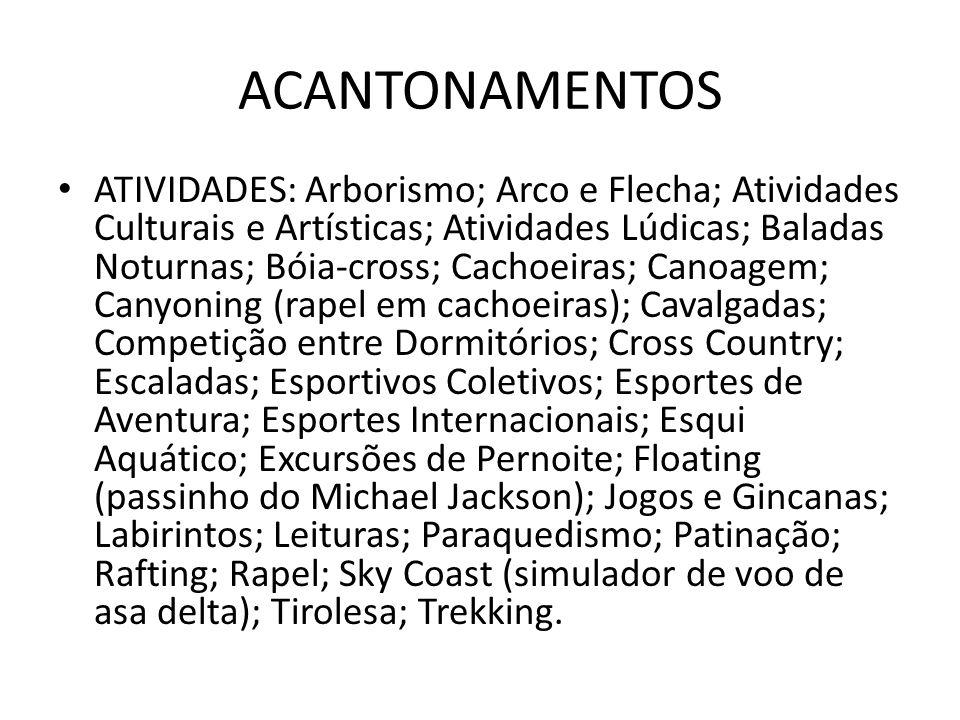 ACANTONAMENTOS