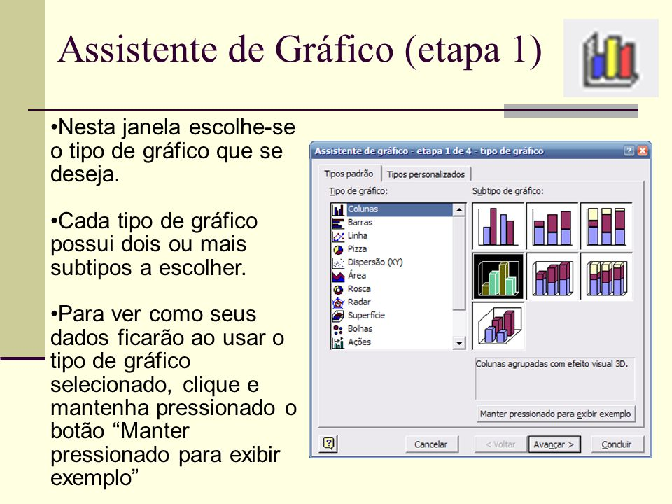 Assistente de Gráfico (etapa 1)