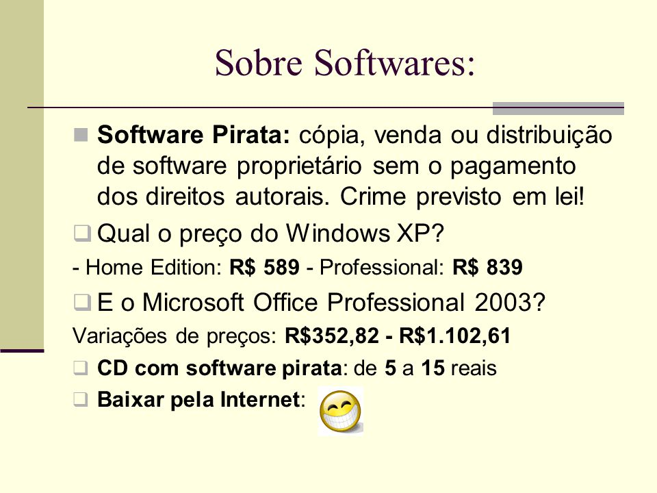 Sobre Softwares: