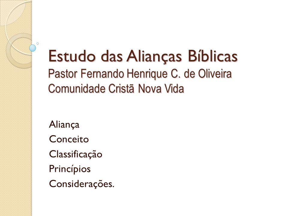 Aliança Conceito Classificação Princípios Considerações.