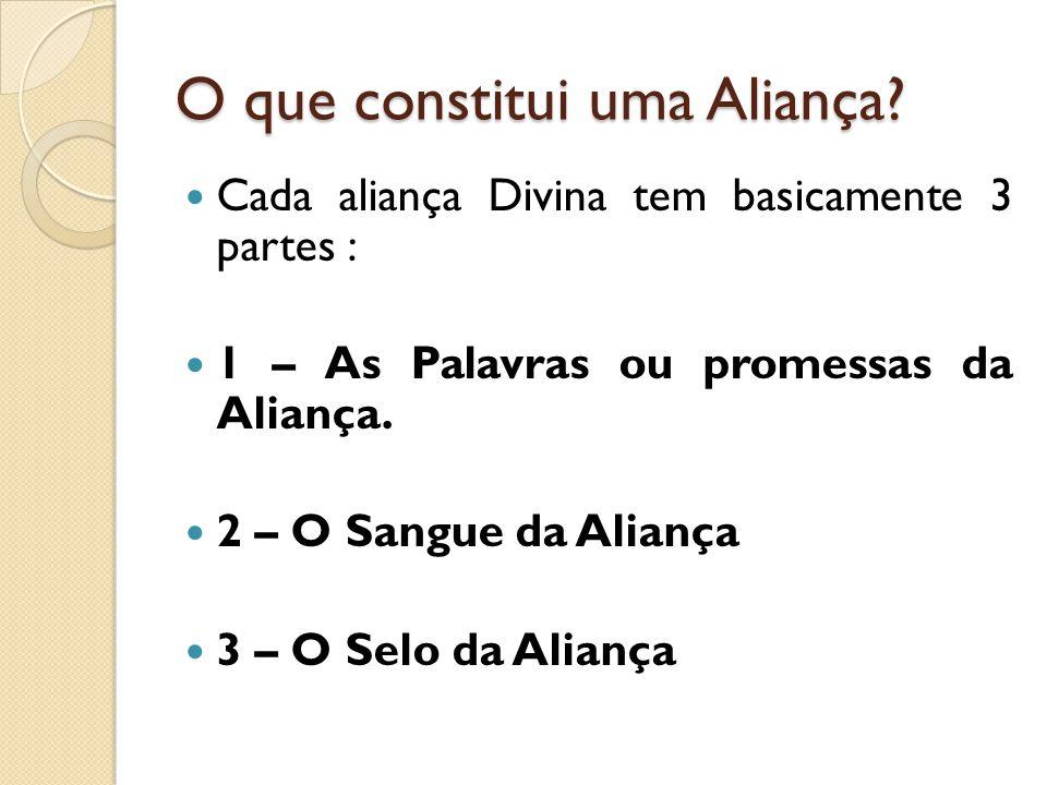 O que constitui uma Aliança