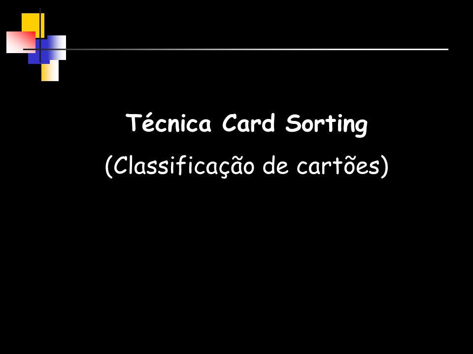(Classificação de cartões)