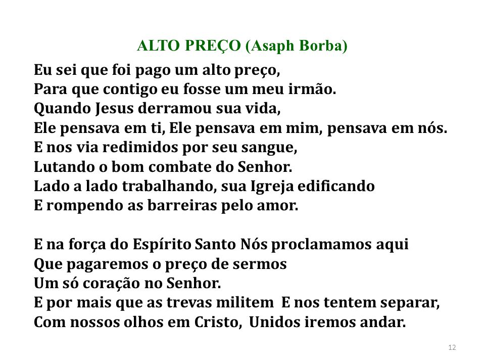 ALTO PREÇO (Asaph Borba)