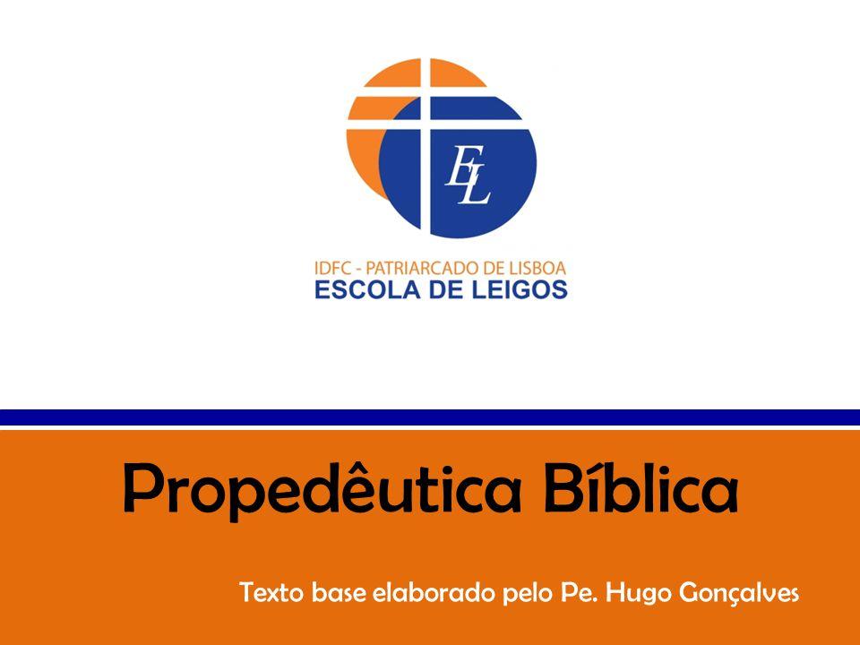 Texto base elaborado pelo Pe. Hugo Gonçalves