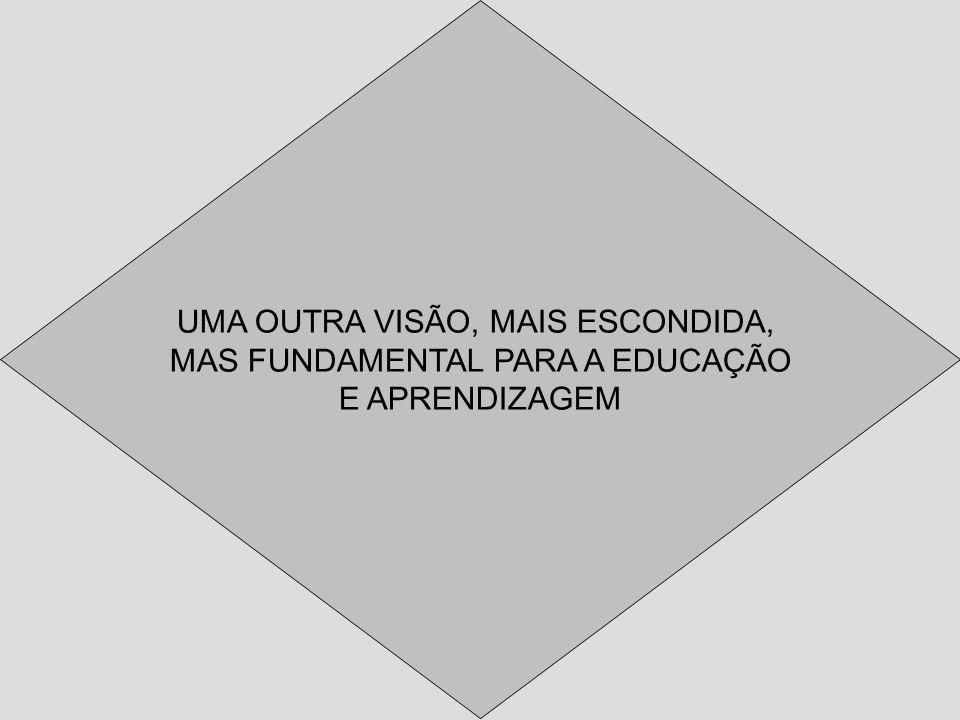UMA OUTRA VISÃO, MAIS ESCONDIDA, MAS FUNDAMENTAL PARA A EDUCAÇÃO