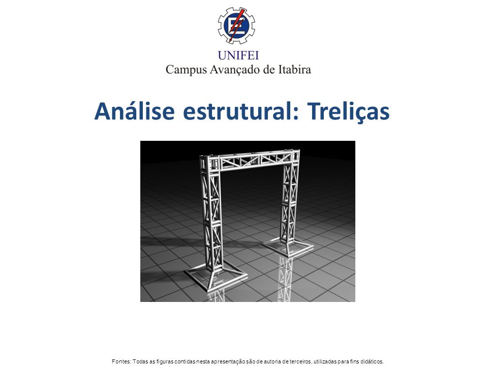 Análise estrutural: Treliças