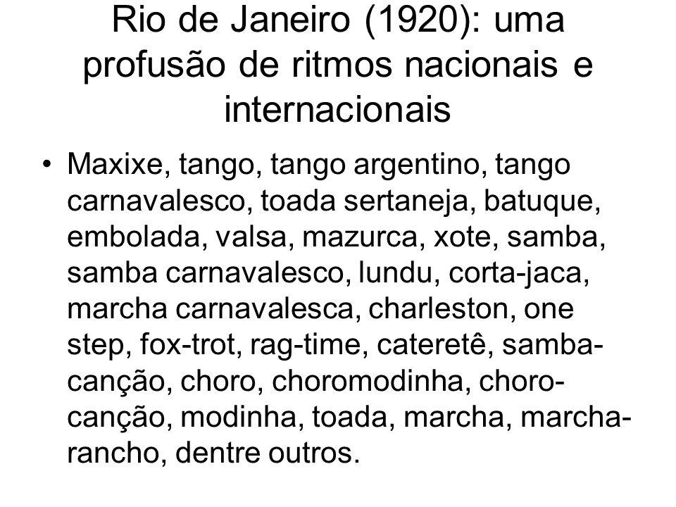 Rio de Janeiro (1920): uma profusão de ritmos nacionais e internacionais