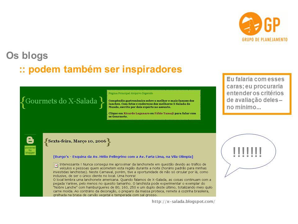 !!!!!!! :: podem também ser inspiradores Os blogs