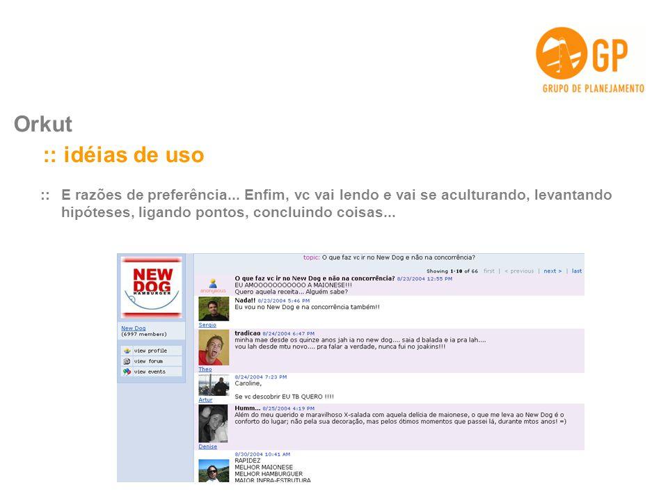 Orkut :: idéias de uso.