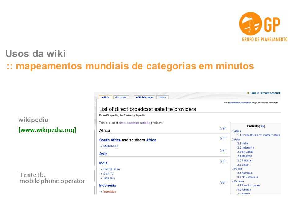 :: mapeamentos mundiais de categorias em minutos