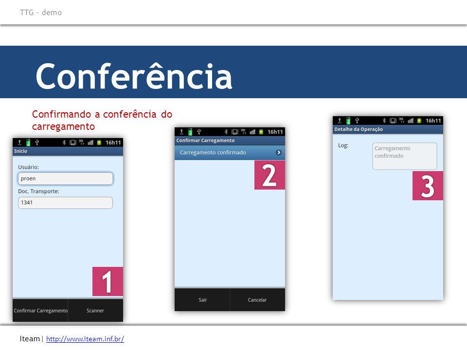 Conferência 2 3 1 Confirmando a conferência do carregamento