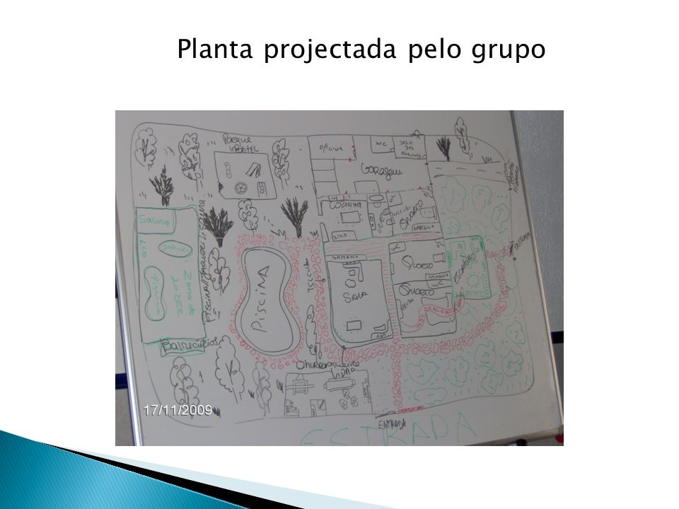 Planta projectada pelo grupo