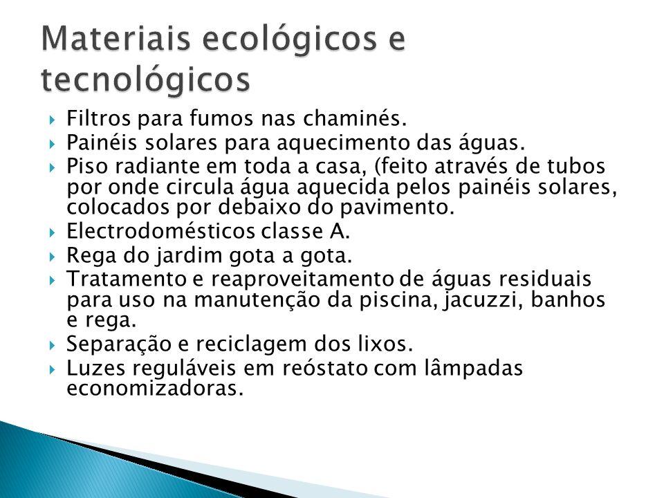 Materiais ecológicos e tecnológicos