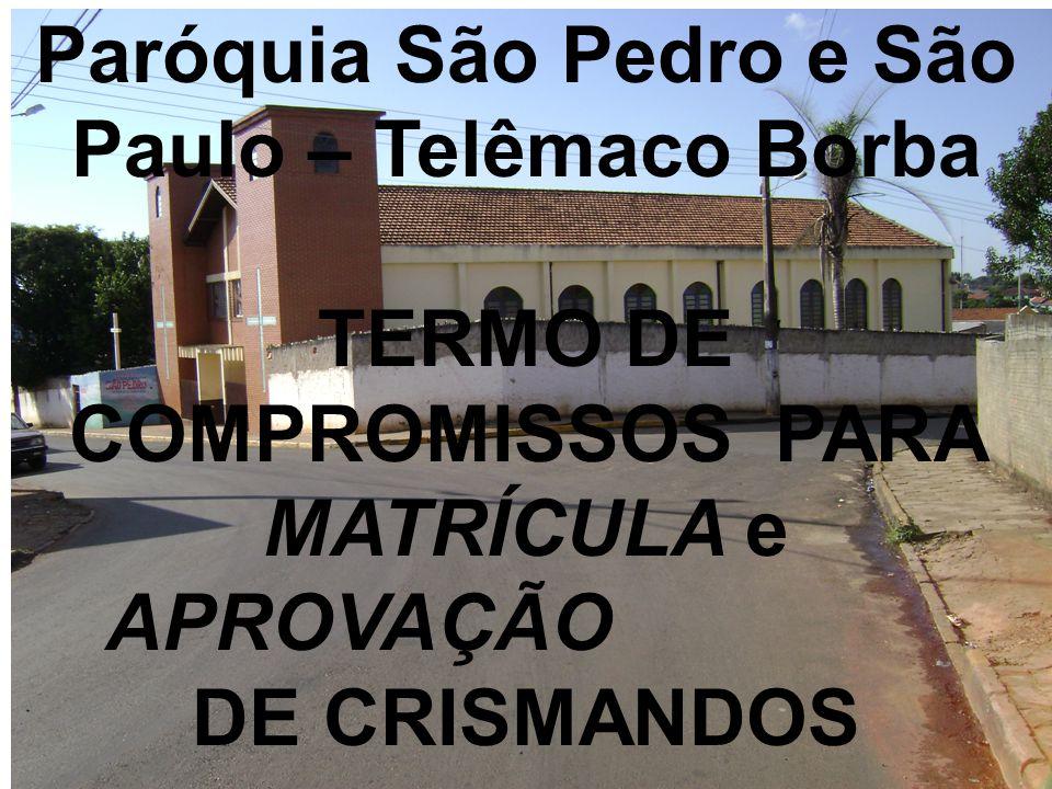 Paróquia São Pedro e São Paulo – Telêmaco Borba