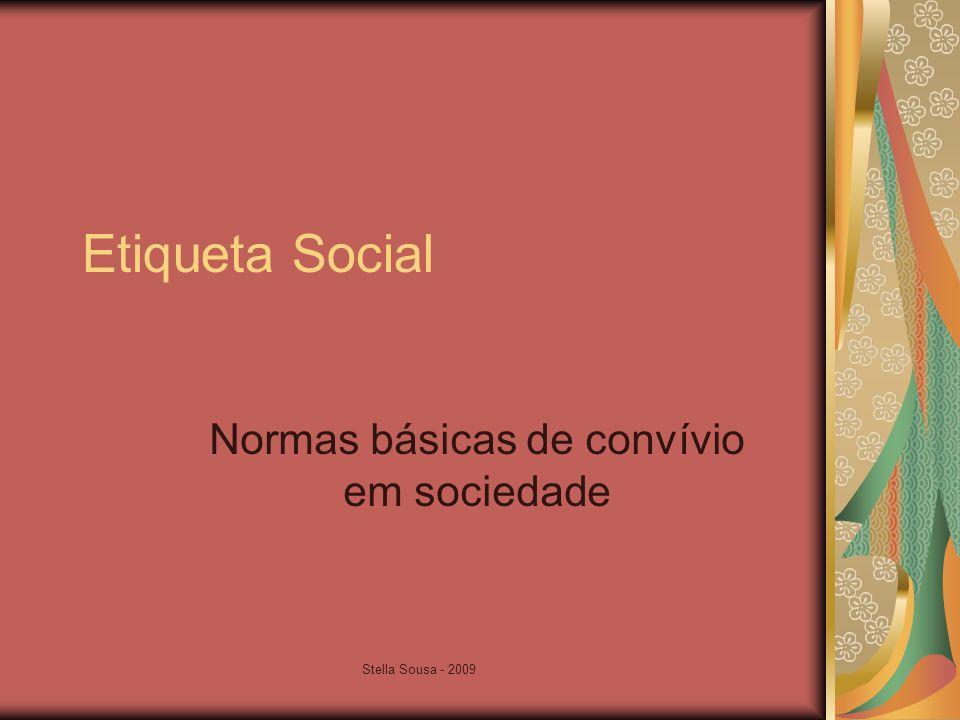 Normas básicas de convívio em sociedade
