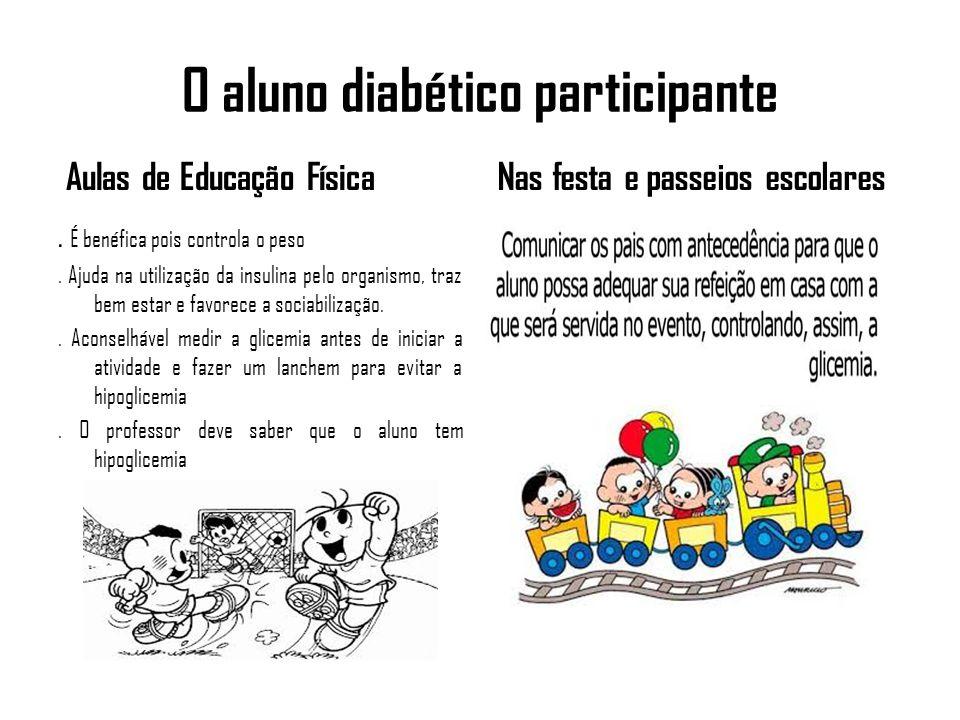 O aluno diabético participante