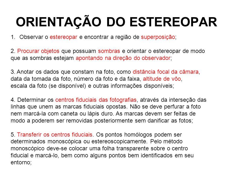 ORIENTAÇÃO DO ESTEREOPAR