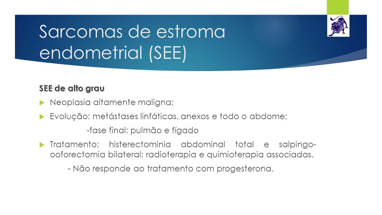 Sarcomas de estroma endometrial (SEE)