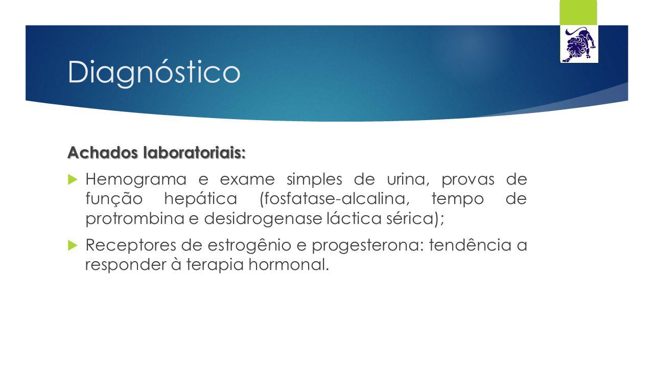 Diagnóstico Achados laboratoriais: