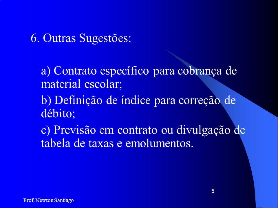 a) Contrato específico para cobrança de material escolar;