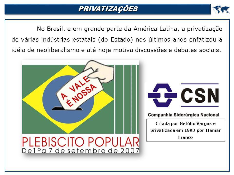 Criada por Getúlio Vargas e privatizada em 1993 por Itamar Franco