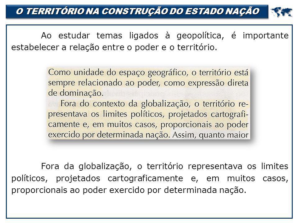 O TERRITÓRIO NA CONSTRUÇÃO DO ESTADO NAÇÃO