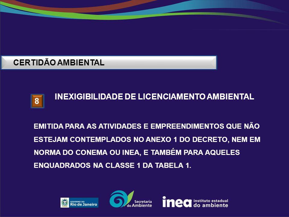 INEXIGIBILIDADE DE LICENCIAMENTO AMBIENTAL 8