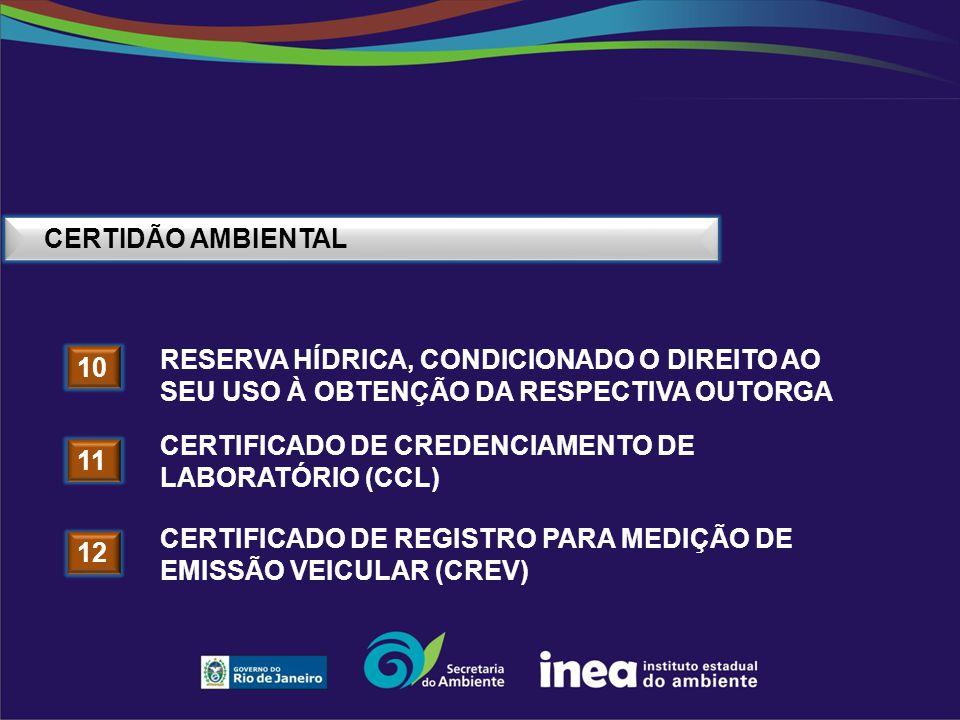 CERTIDÃO AMBIENTAL reserva hídrica, condicionado o direito ao seu uso à obtenção da respectiva outorga.