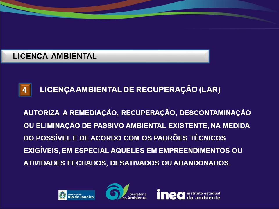 Licença ambiental de recuperação (Lar) 4