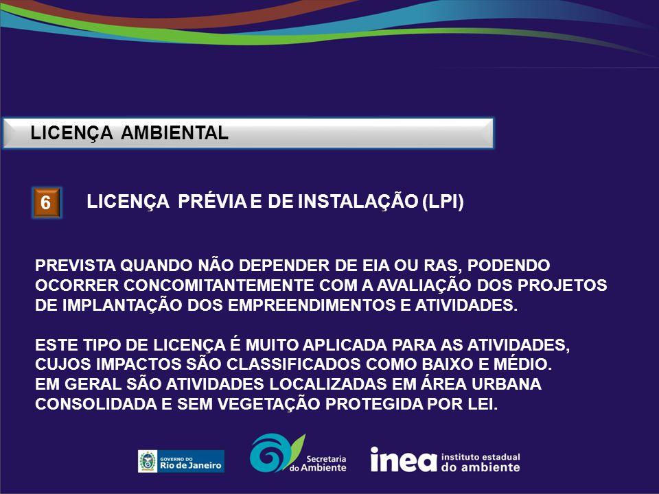 Licença PRÉVIA E DE INSTALAÇÃO (lpi) 6