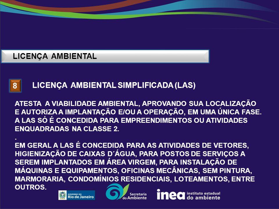 Licença ambiental simplificada (las) 8