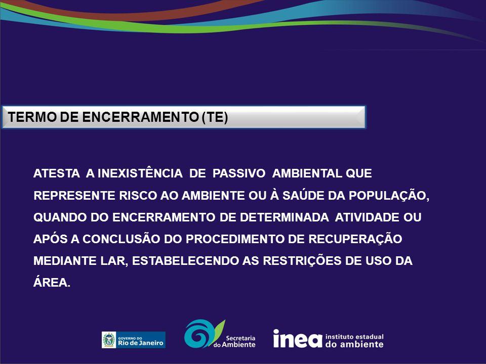 Termo de Encerramento (TE)