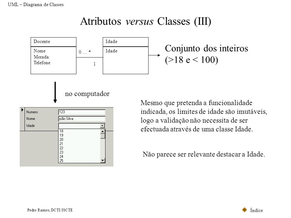 Atributos versus Classes (III)