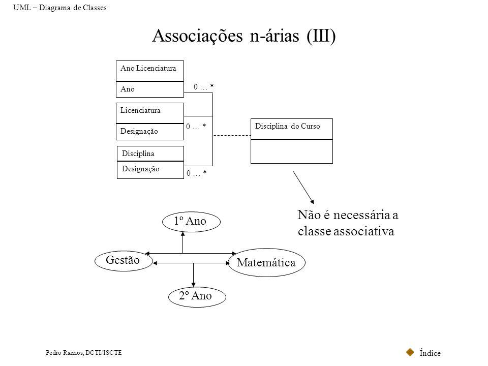 Associações n-árias (III)
