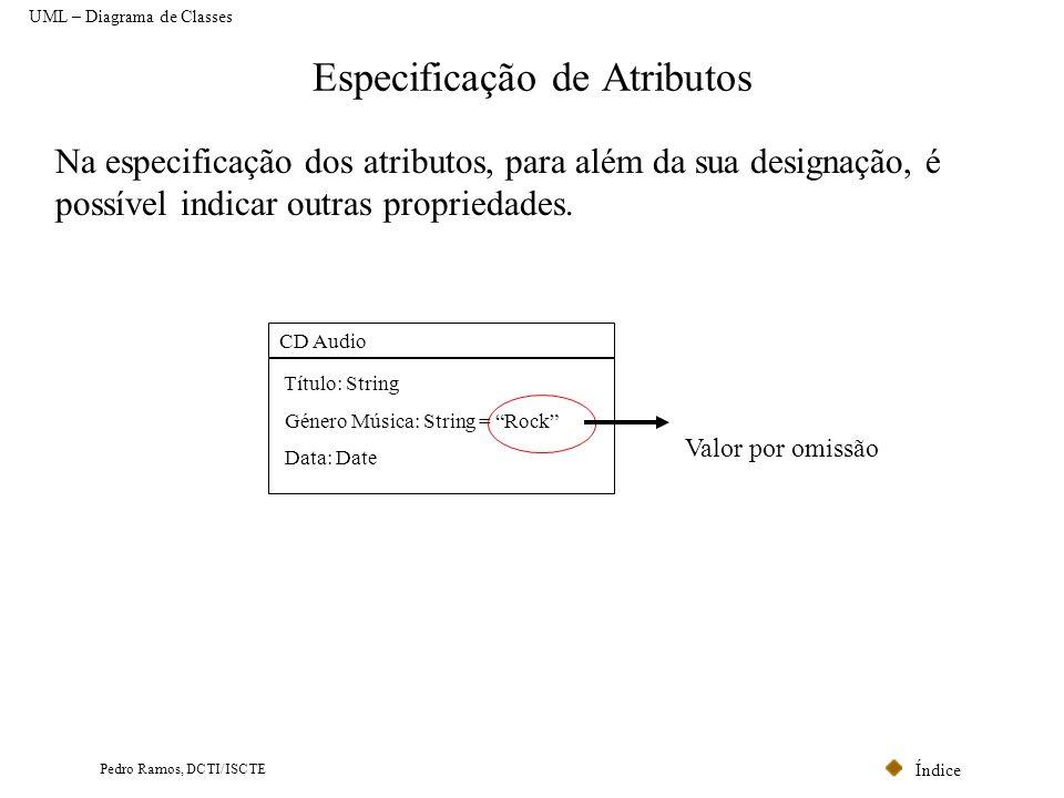 Especificação de Atributos