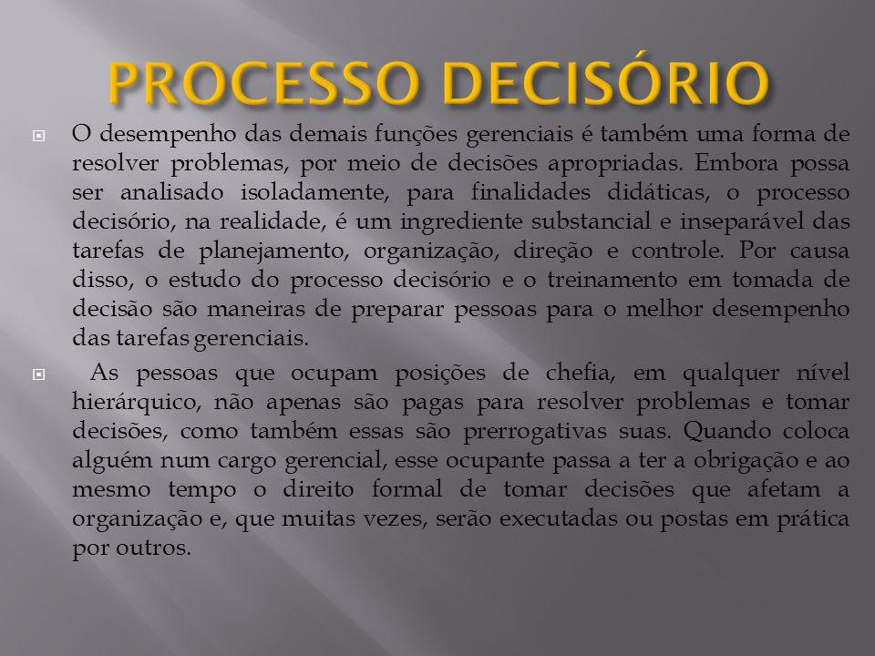 PROCESSO DECISÓRIO