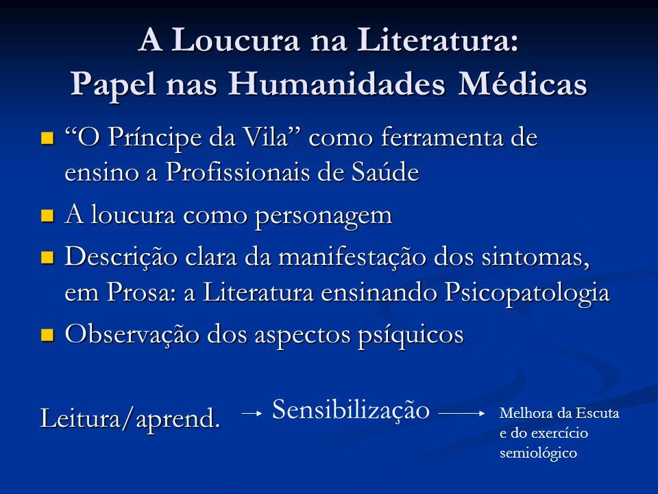 A Loucura na Literatura: Papel nas Humanidades Médicas